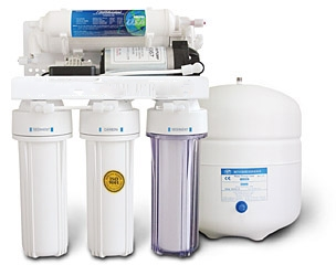 RO 5 Stage Pumped Reverse Osmosis water filter system - RO5PEW