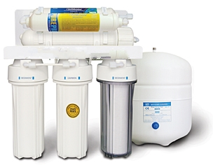 RO 5 Stage Pumped Reverse Osmosis and Additional Stage RO Mineral Filter