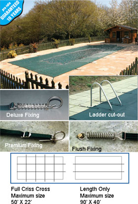 The 505 Winter In Ground Pool Cover with Hooks.